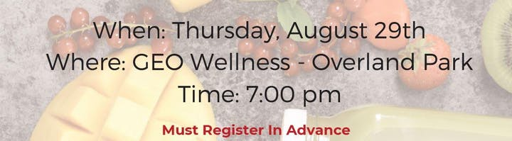 7 PM on Thursday, August 29th at GEO Fitness in Overland Park